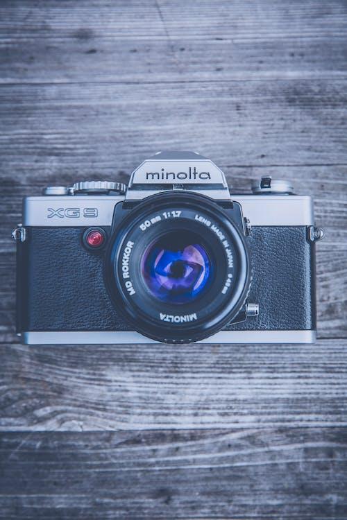 Immagine gratuita di classico, fotocamera, lente, minolta
