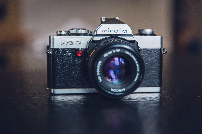 Minolta Silver and Black 35 Mm Camera