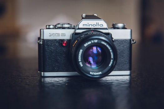 Minolta Silver and Black 35 Mm Camera