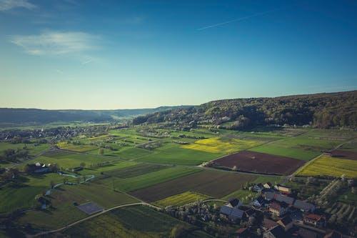 Gratis stockfoto met akkers, boerderij, dorp, gras