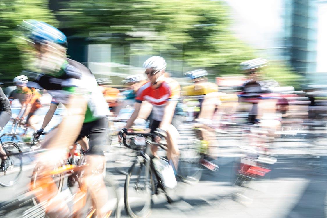 bicyclettes, brouiller, compétition
