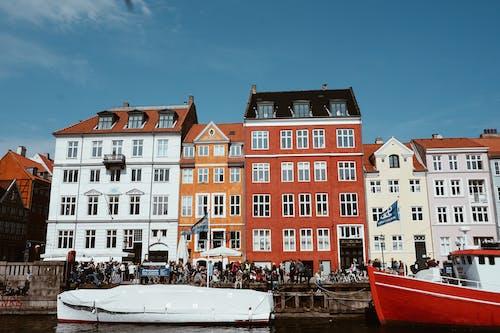 Ingyenes stockfotó cph, csónakok, Dánia, építészet témában