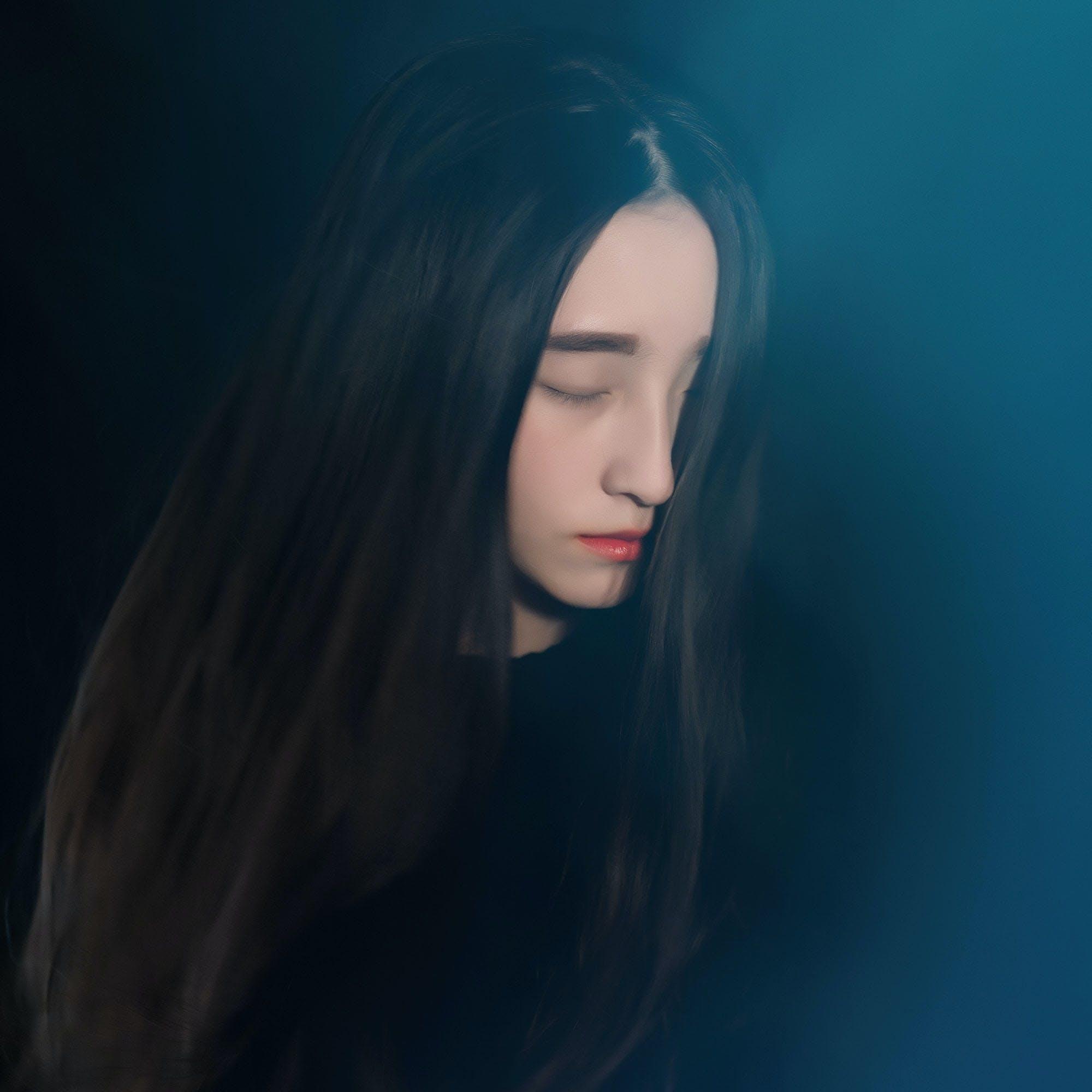 Free stock photo of face, portrait, long hair, black hair