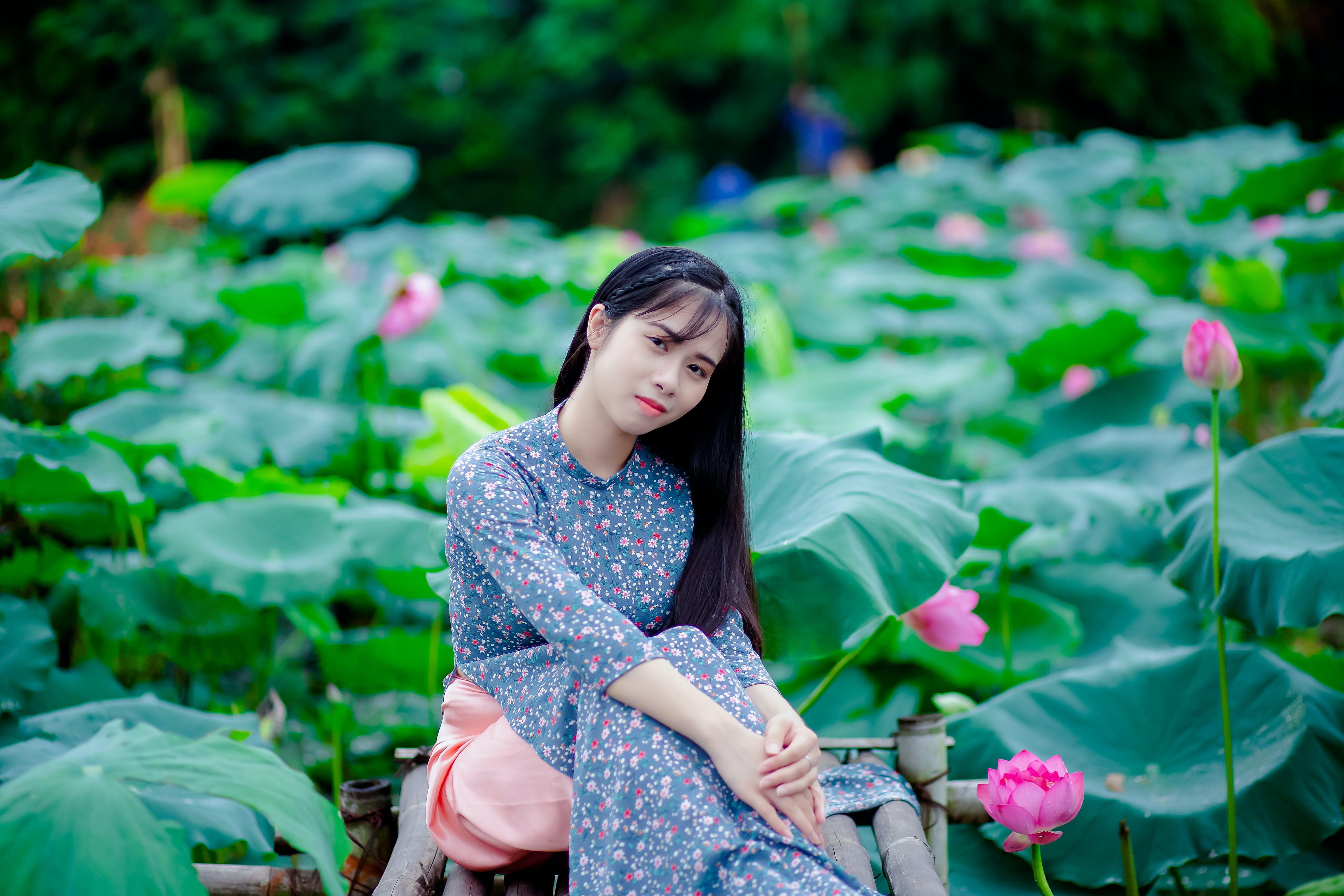 Gratis lagerfoto af asiatisk kvinde, Asiatisk pige, blomster, flora