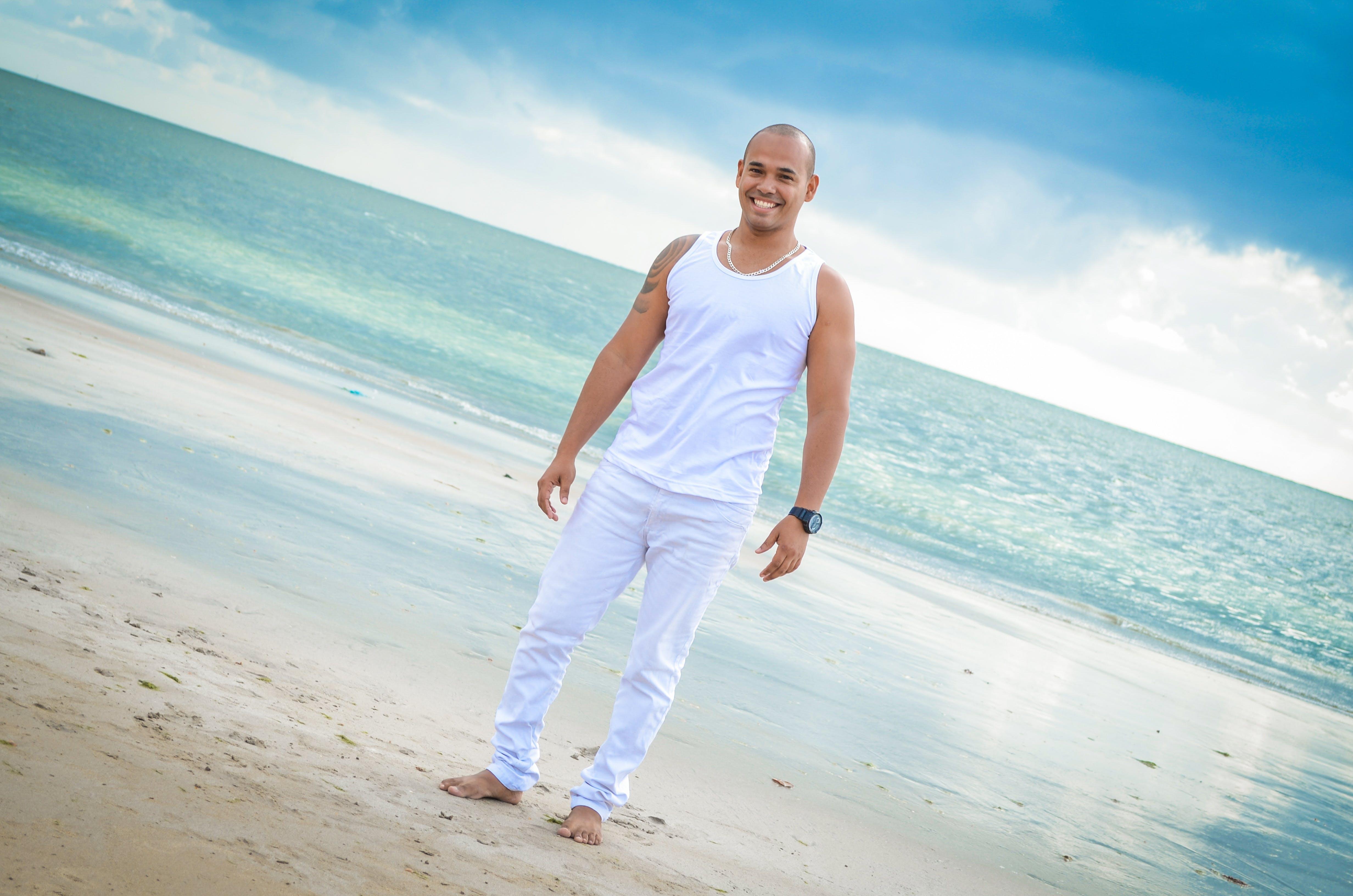 Free stock photo of sea, man, beach, summer