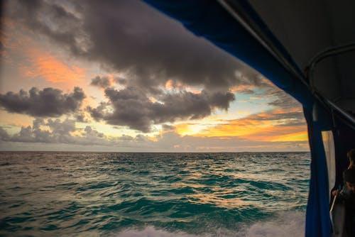 Foto stok gratis air, indah, jam emas, laut
