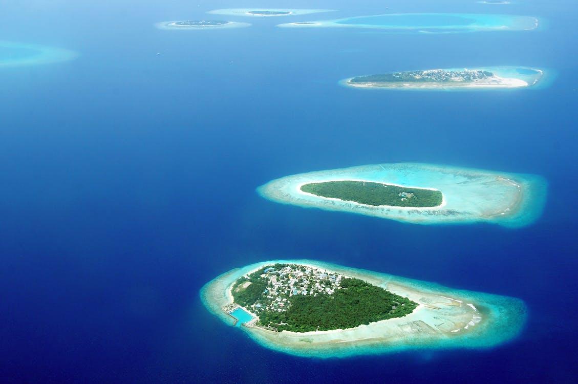 공중 촬영, 몰디브, 물