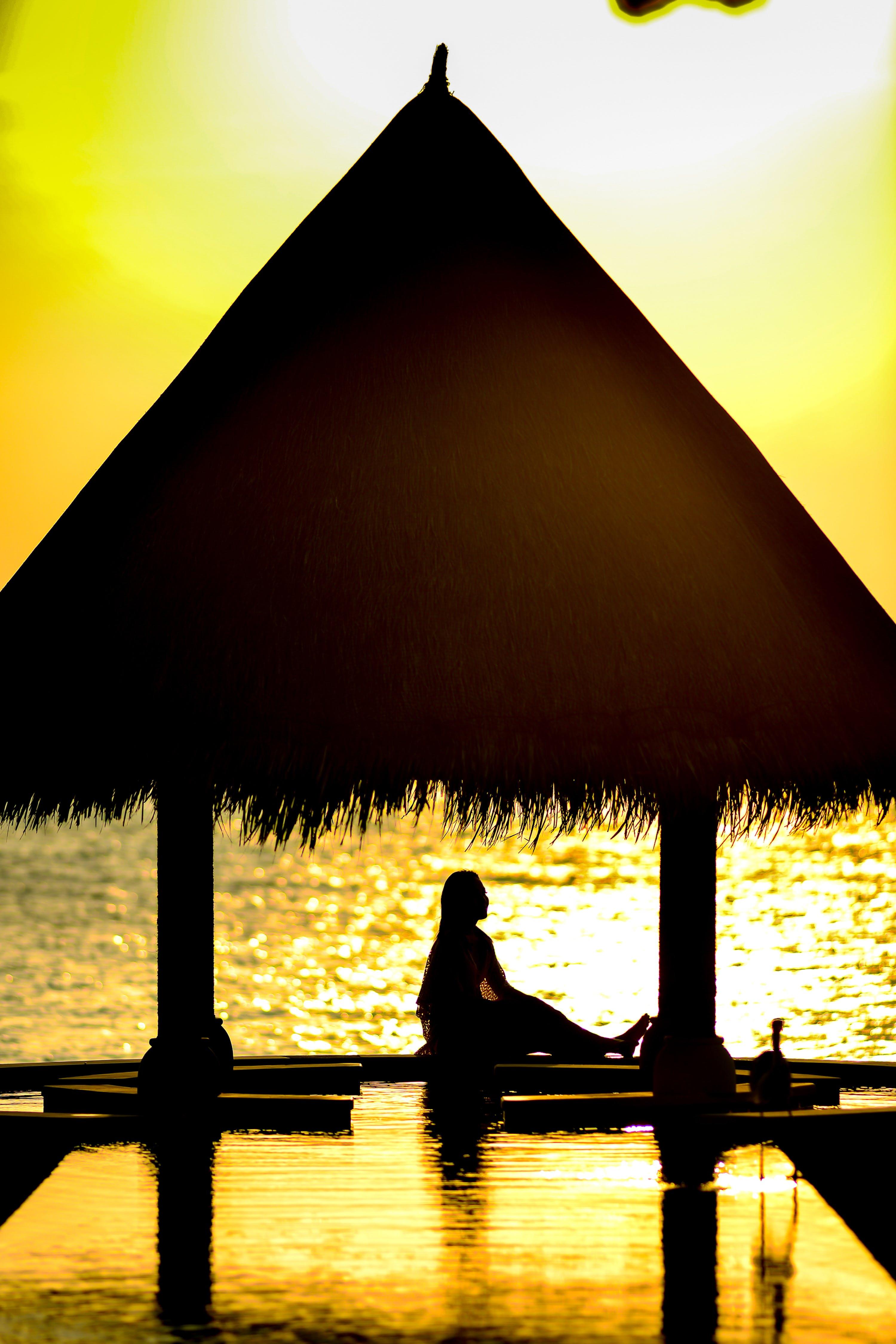側面, 反射, 太陽, 女人 的 免費圖庫相片