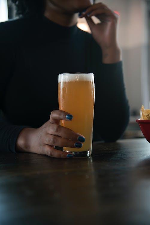 drink, kobieta, napój