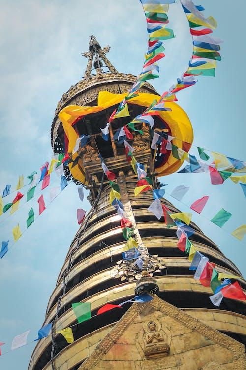 Free stock photo of flags, monkey temple, nepal, stupa