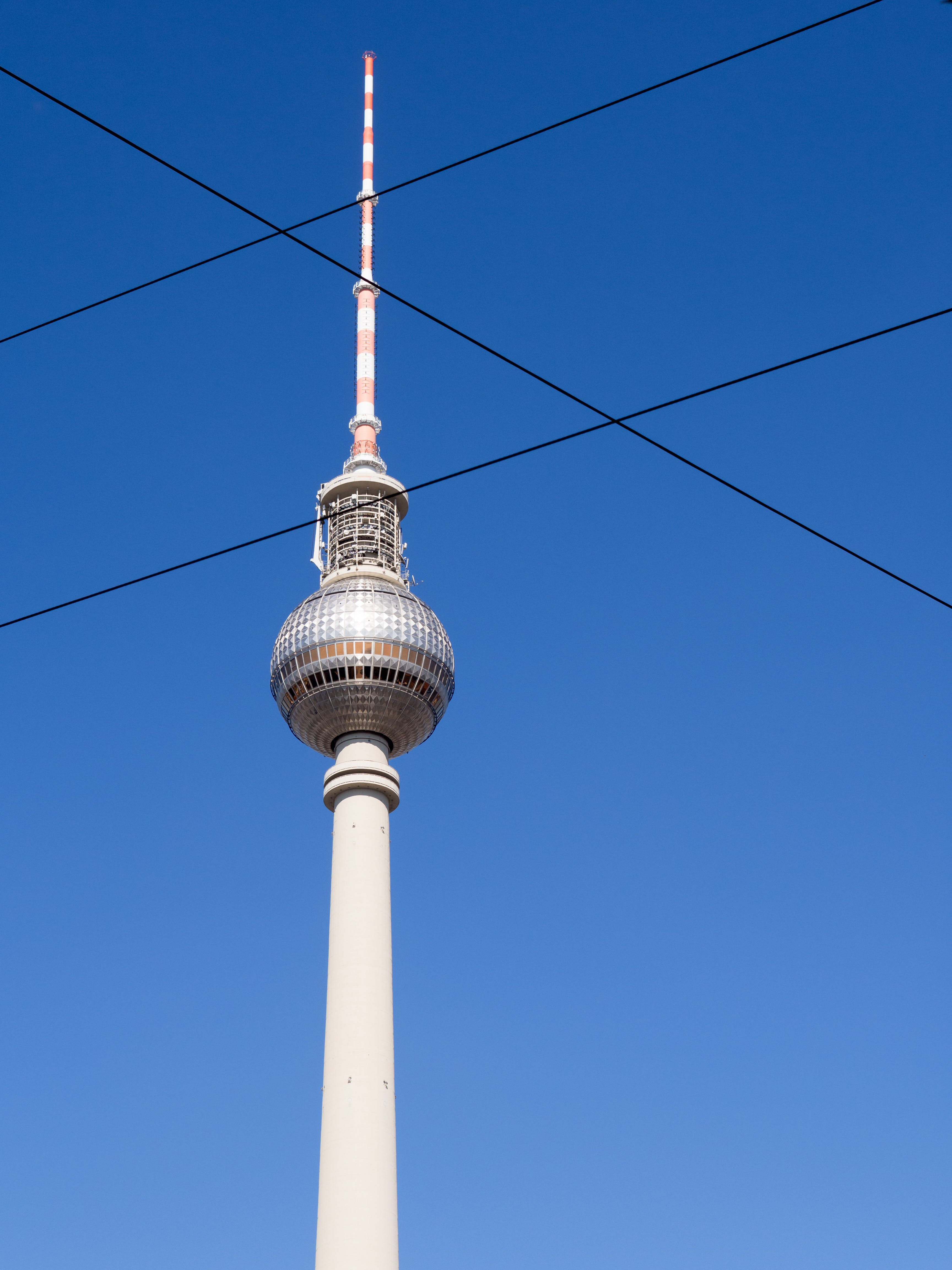 Free stock photo of blue sky, Alexanderplatz, tv tower, simplicity