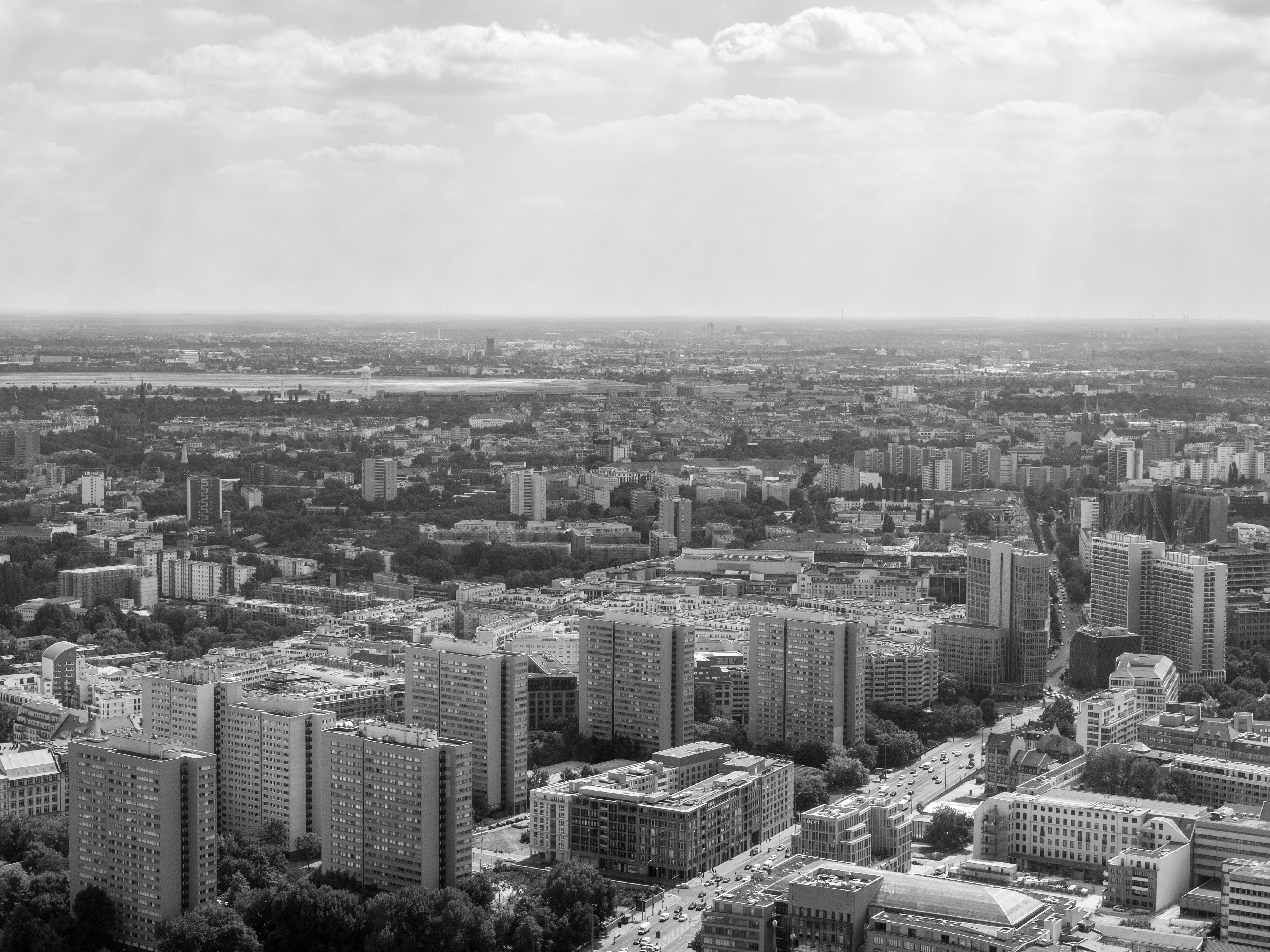Photos gratuites de Alexanderplatz, berlin, noir et blanc, panorama urbain