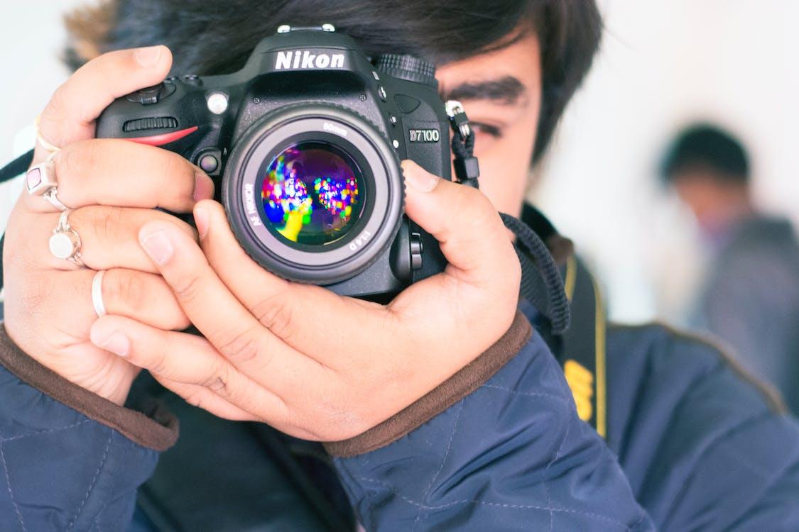 digitális, dslr, fényképész