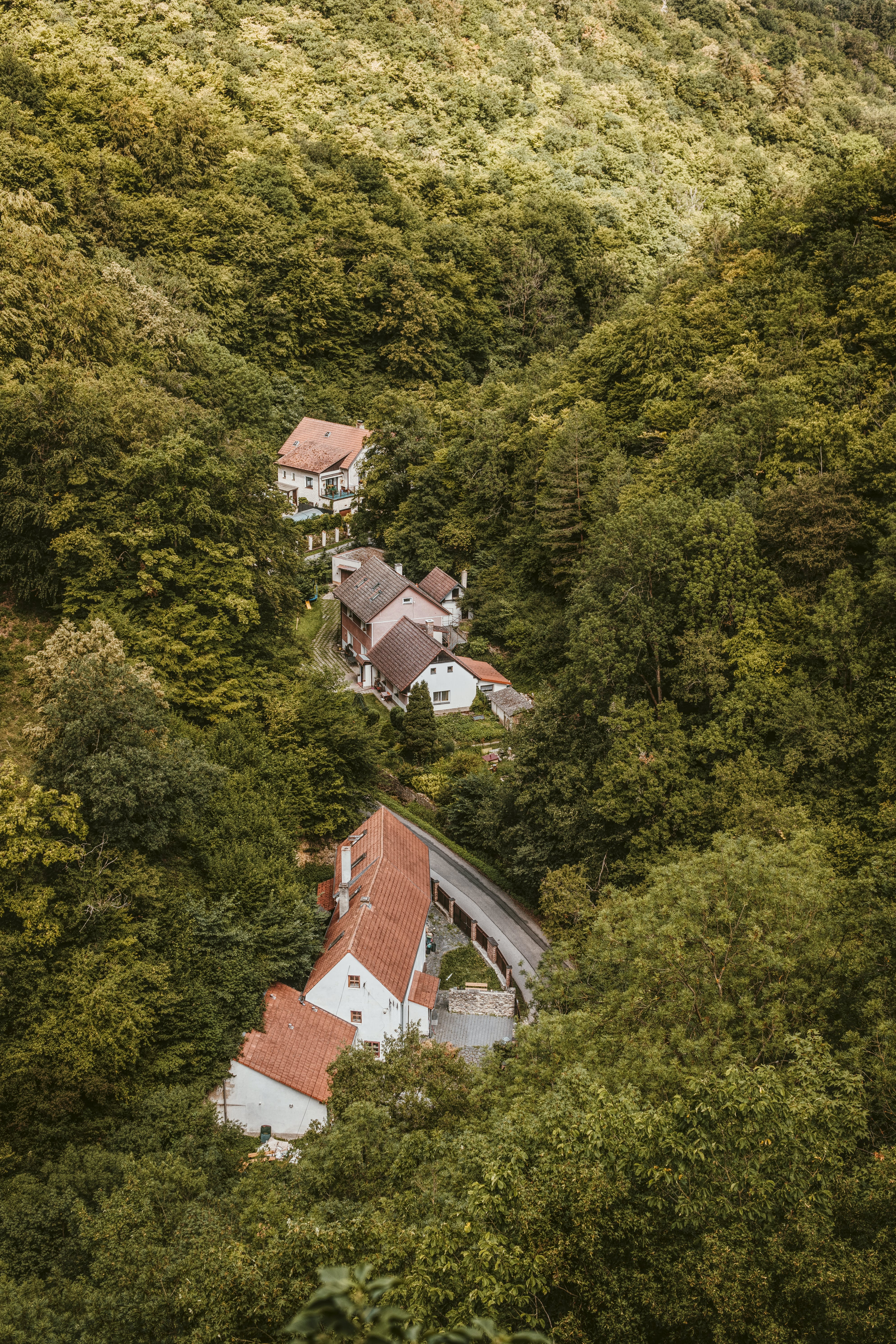 Aerial Photography of Brown and White Houses
