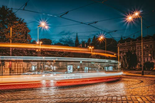 Timelapse Photography of Vehicle Lights on Street