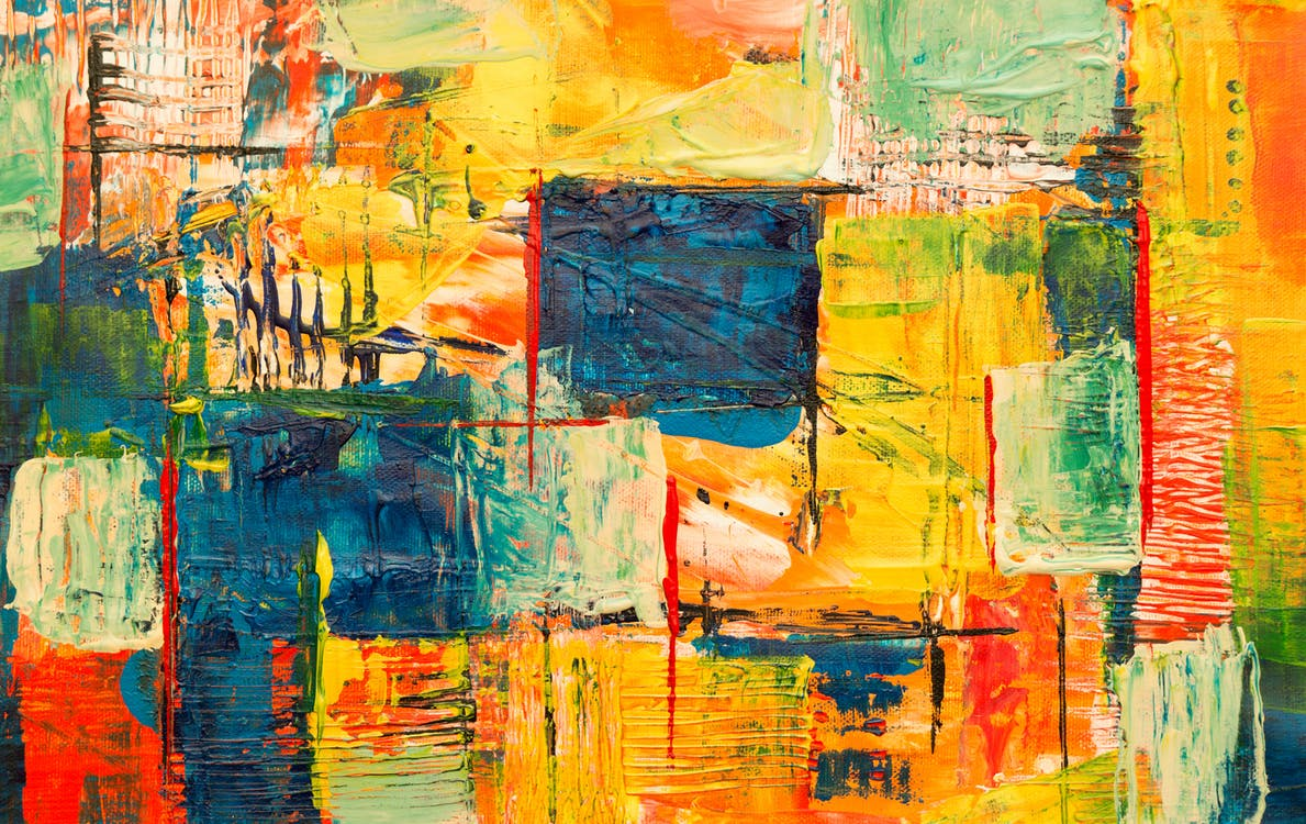 Mehrfarbige Abstrakte Malerei