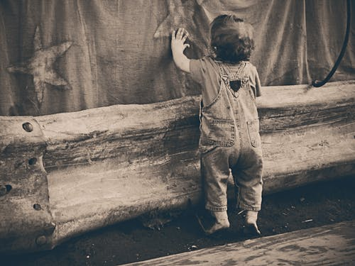 Sepia Photo of Toddler