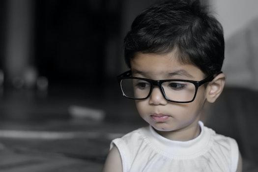 Free stock photo of girl, child, glasses, eyewear