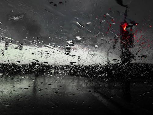 Free stock photo of rain drops, traffic