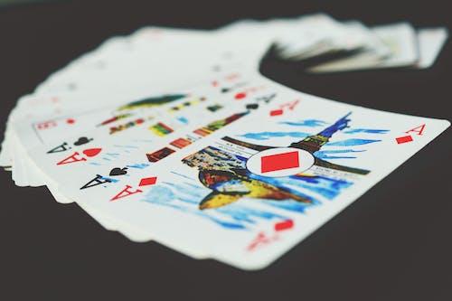 Foto stok gratis ace, bermain kartu, game, kans