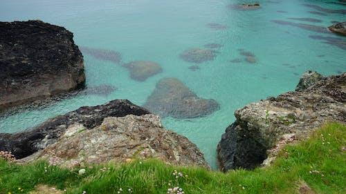 Kostnadsfri bild av fredlig, gräs, hav, havet