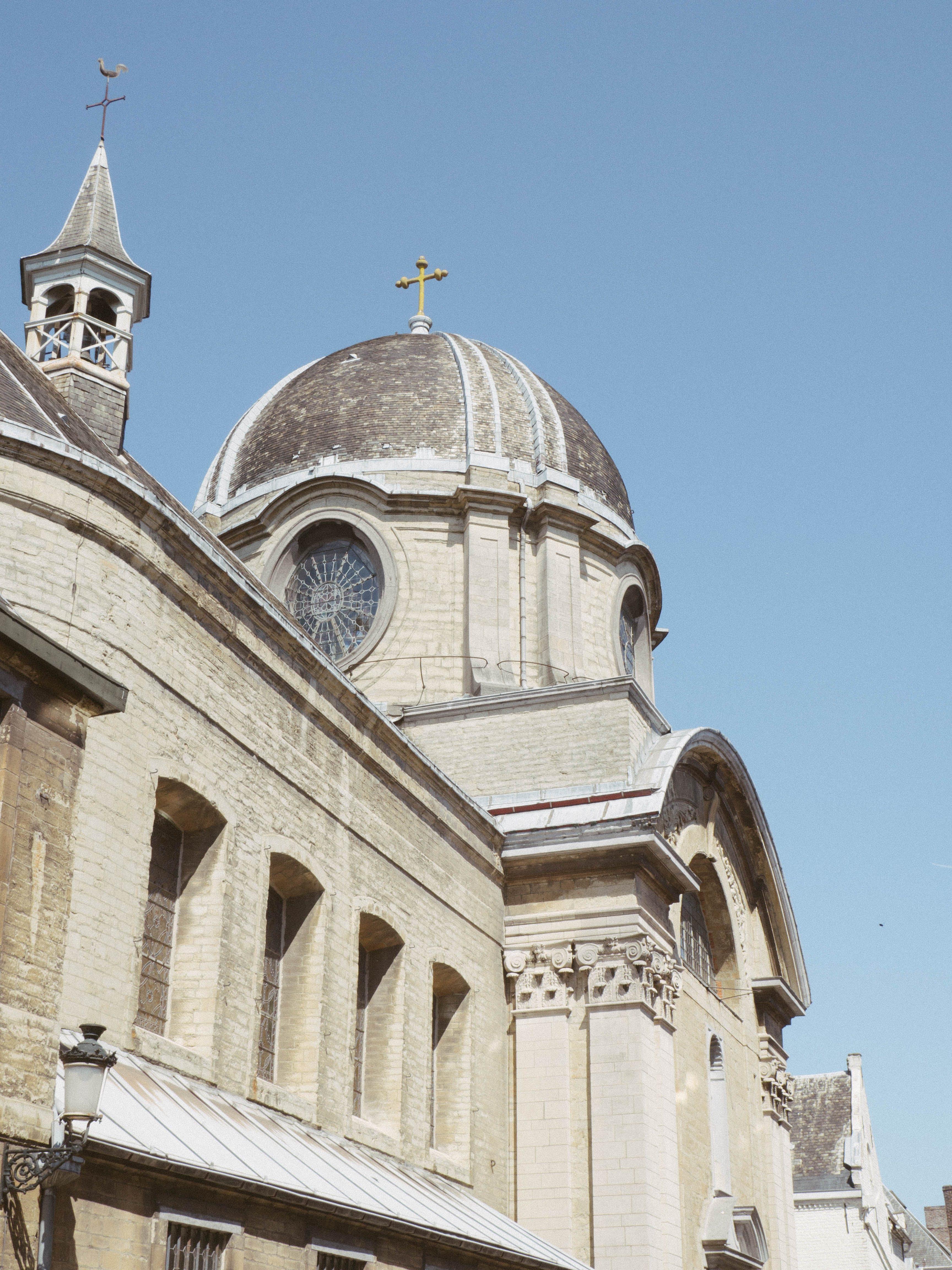Old Church Under Blue Sky