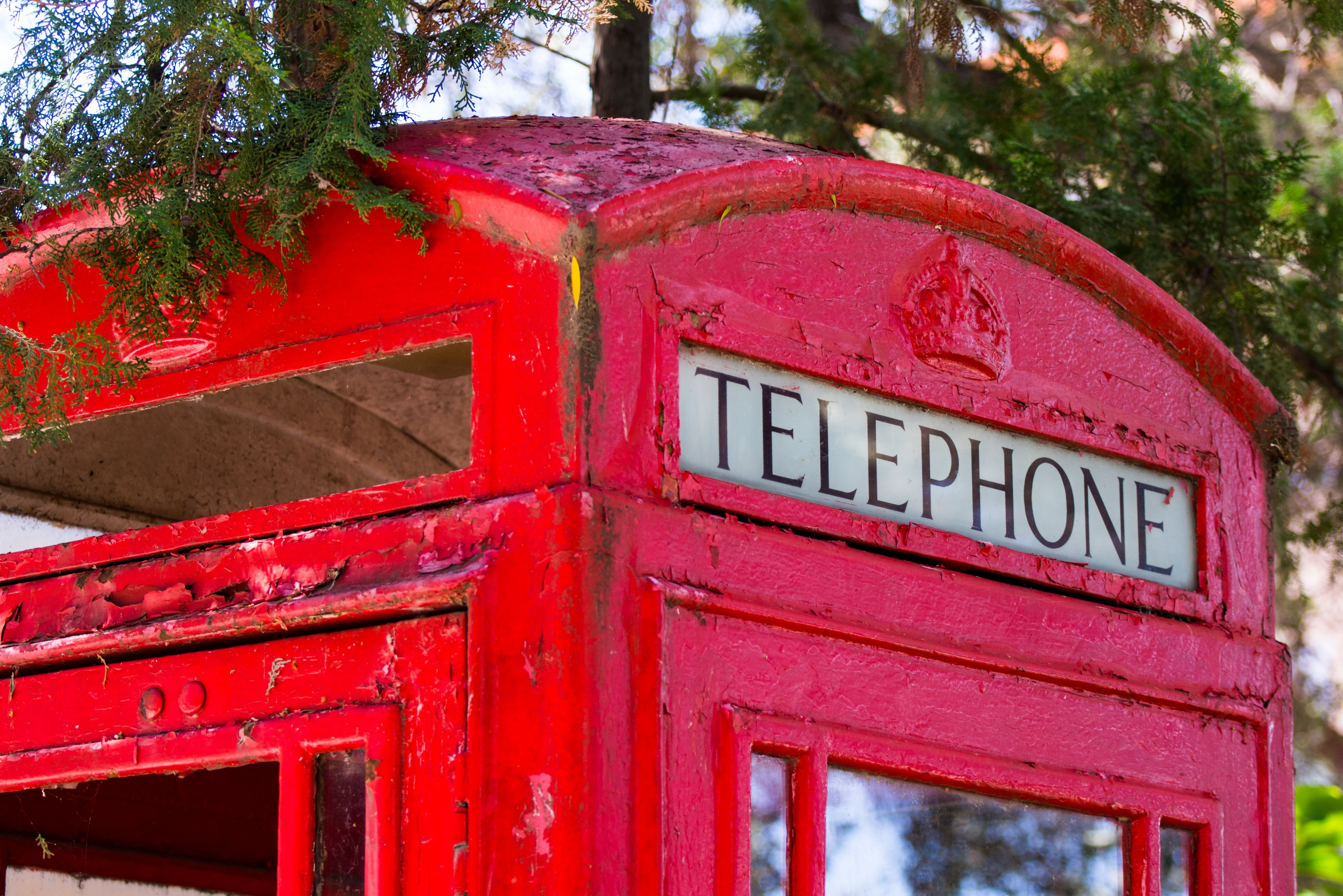 Free stock photo of red, telephone, london