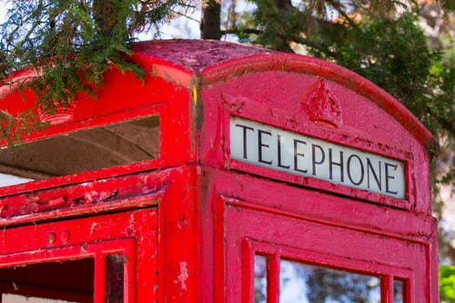 Free stock photo of london, red, telephone