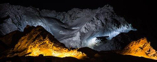 밤, 산, 야경의 무료 스톡 사진