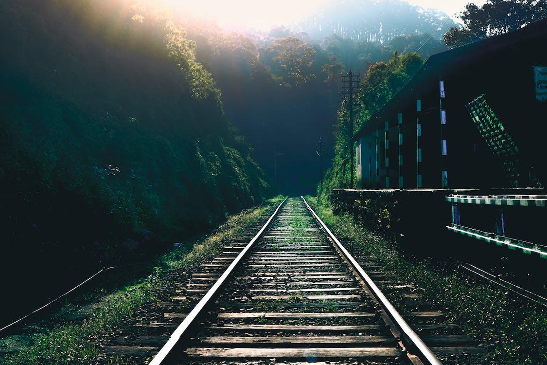 jernbane, jernbanestasjon, natur