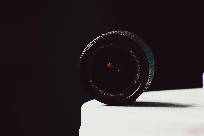 Close-Up Photography of Nikon Camera Lens