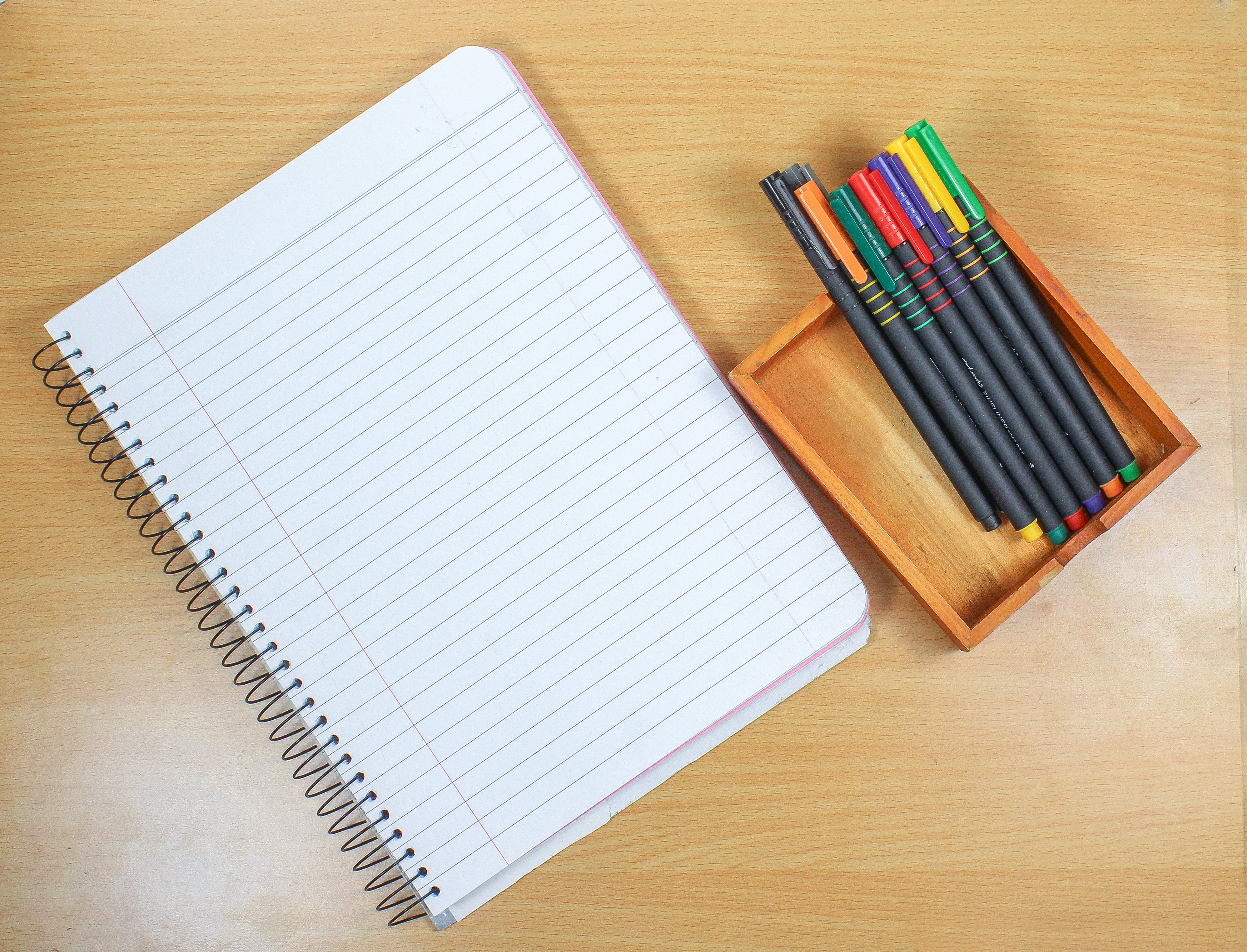Free stock photo of art, book, color pens, drawing