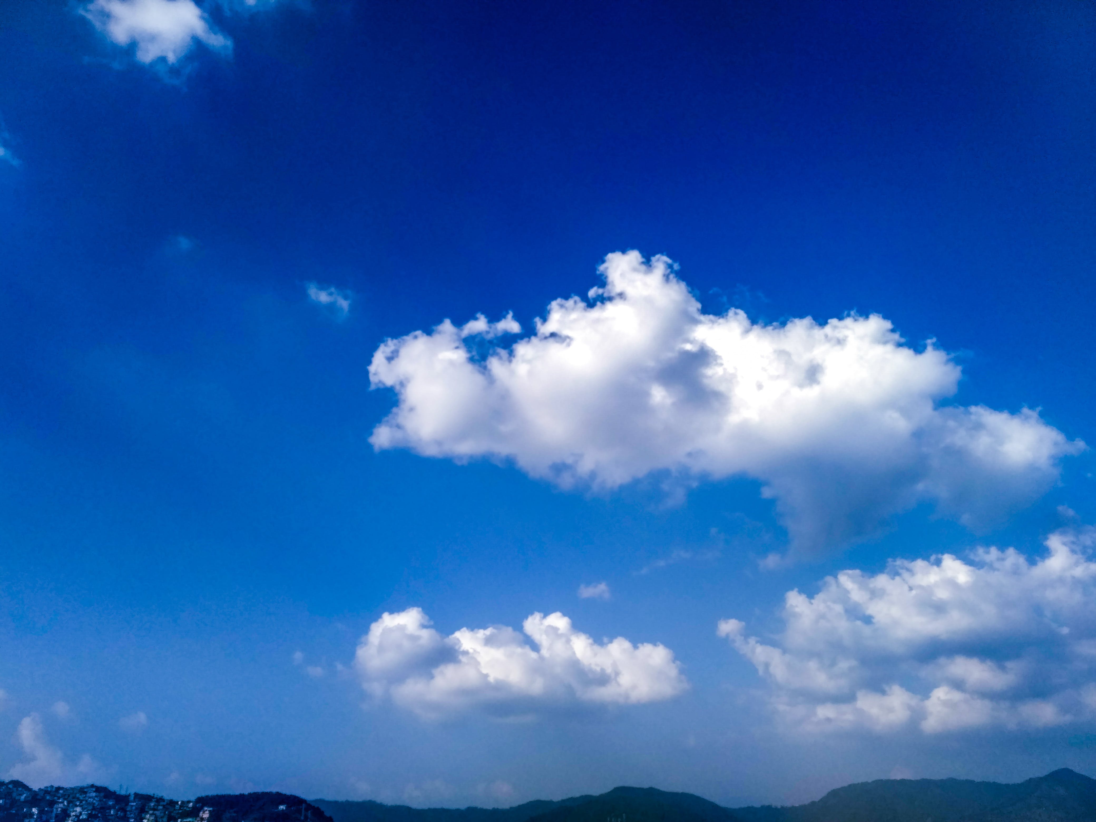 Free stock photo of blue sky, cloude sky, clouds, nature