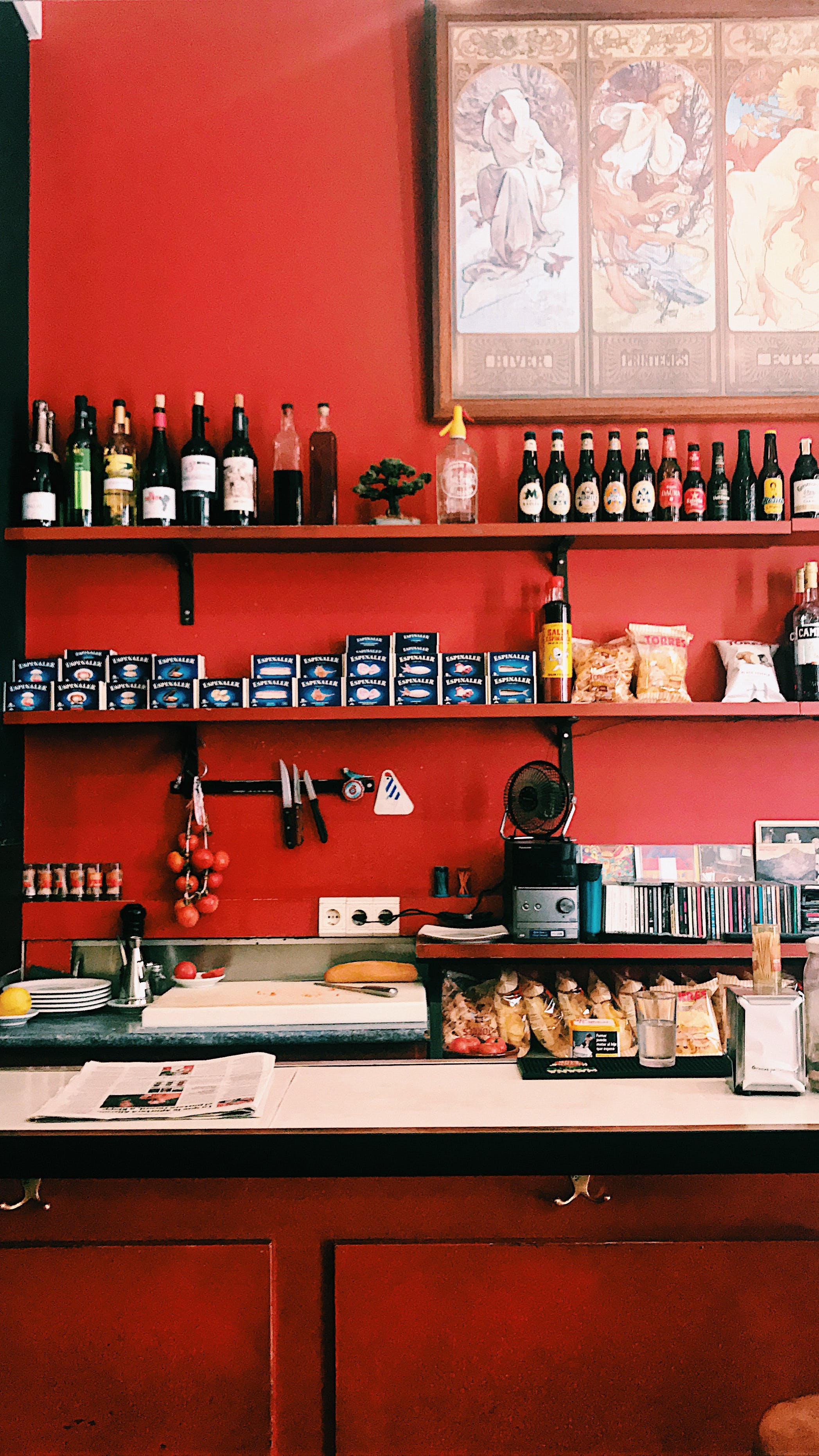 Free stock photo of Red taberna