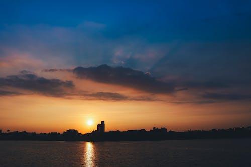 คลังภาพถ่ายฟรี ของ การสะท้อน, งดงาม, ชายหาด, ตะวันลับฟ้า