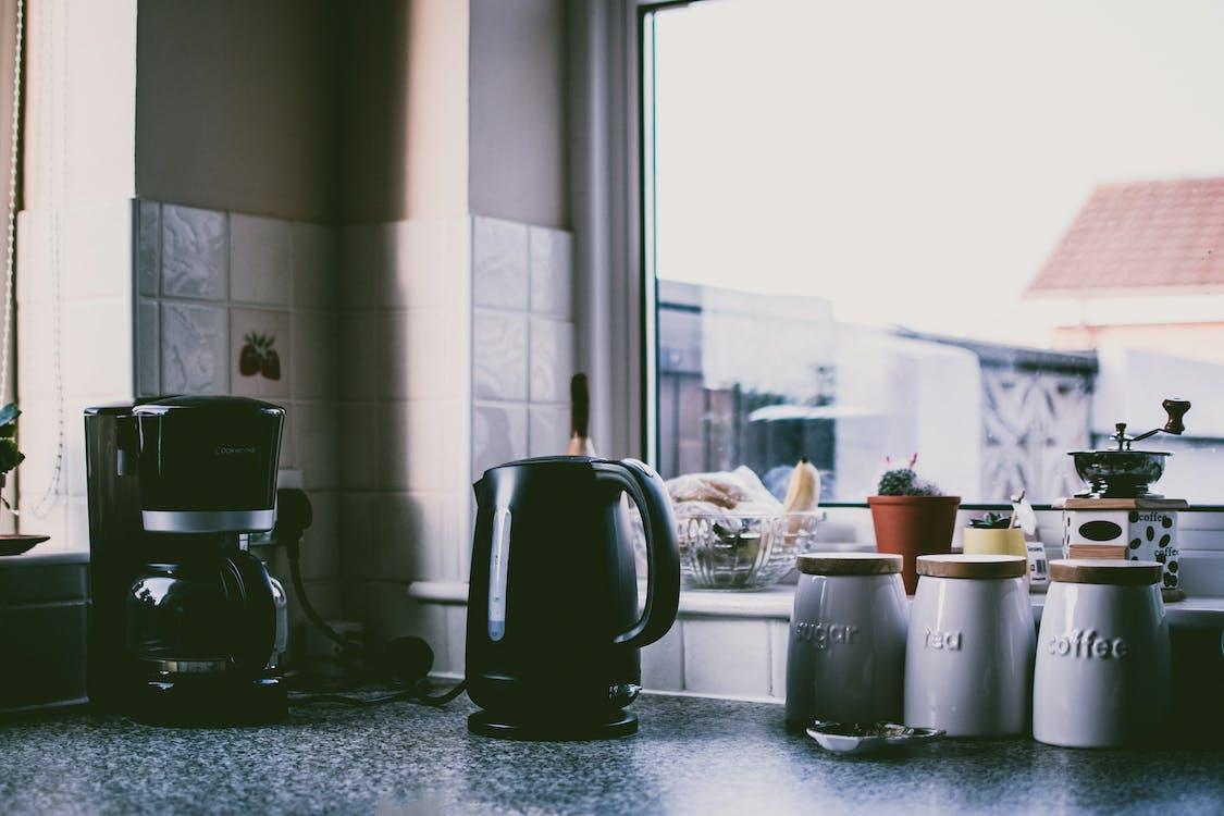 咖啡機, 專注, 廚房