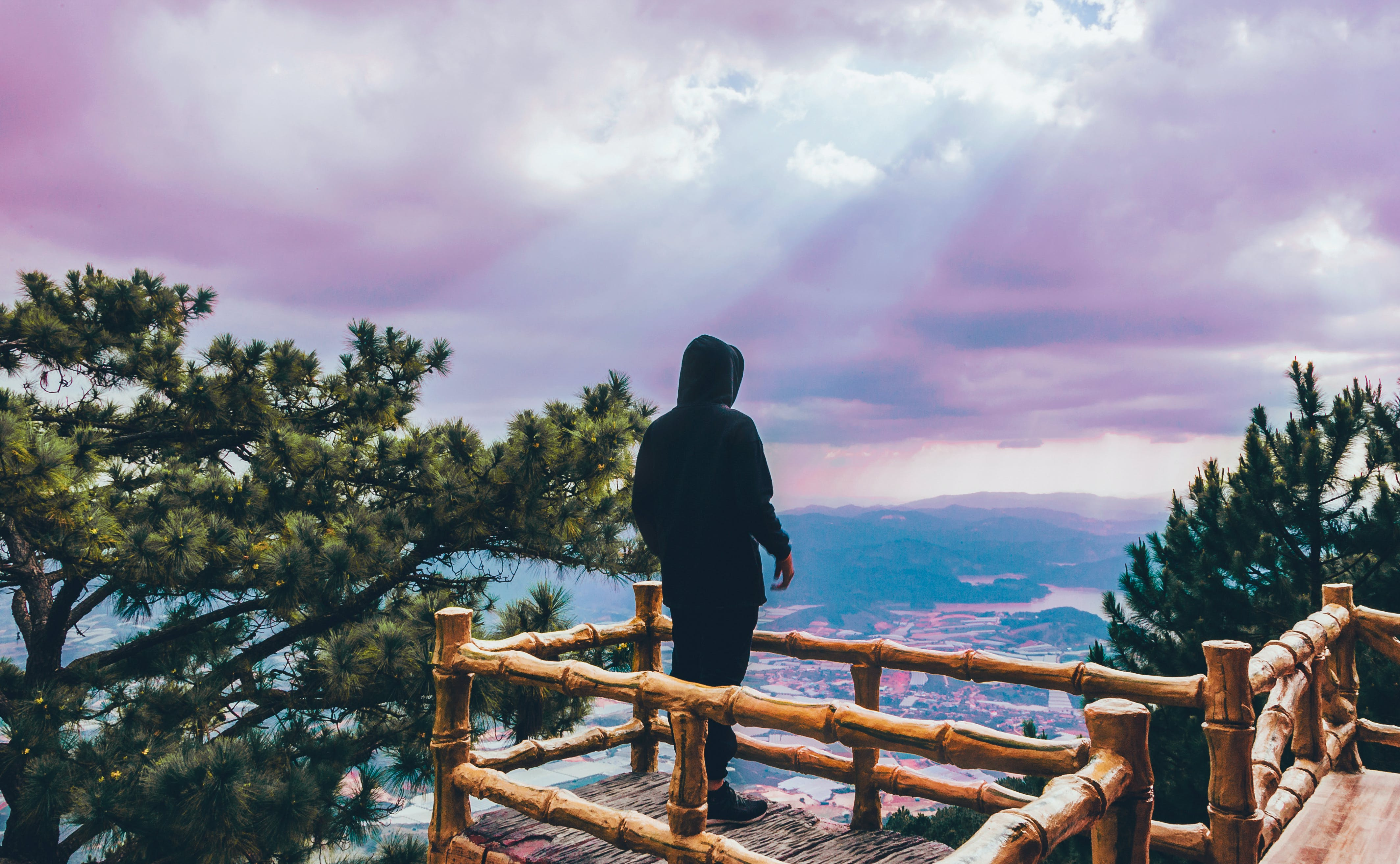 Photo of a Person Overlooking the View