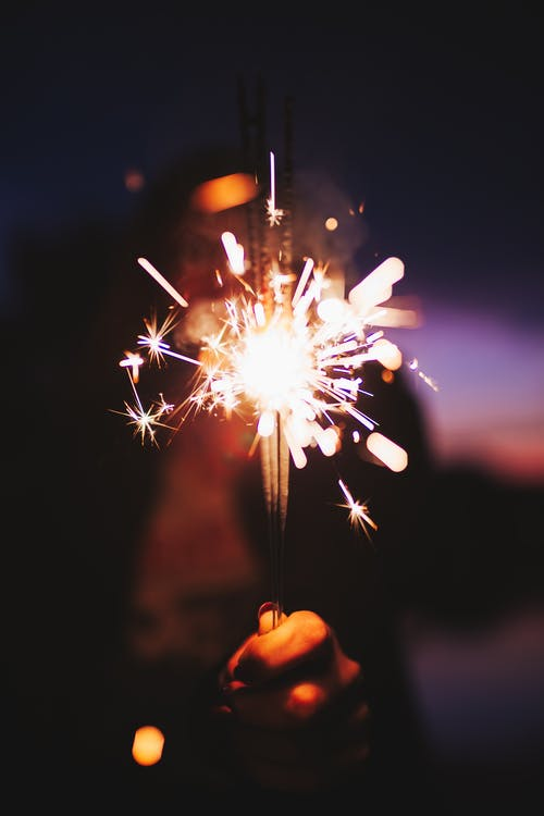 Selective Focus Photograph of Sparklers