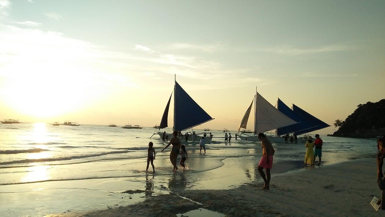 คลังภาพถ่ายฟรี ของ แล่นเรือใบ paraw