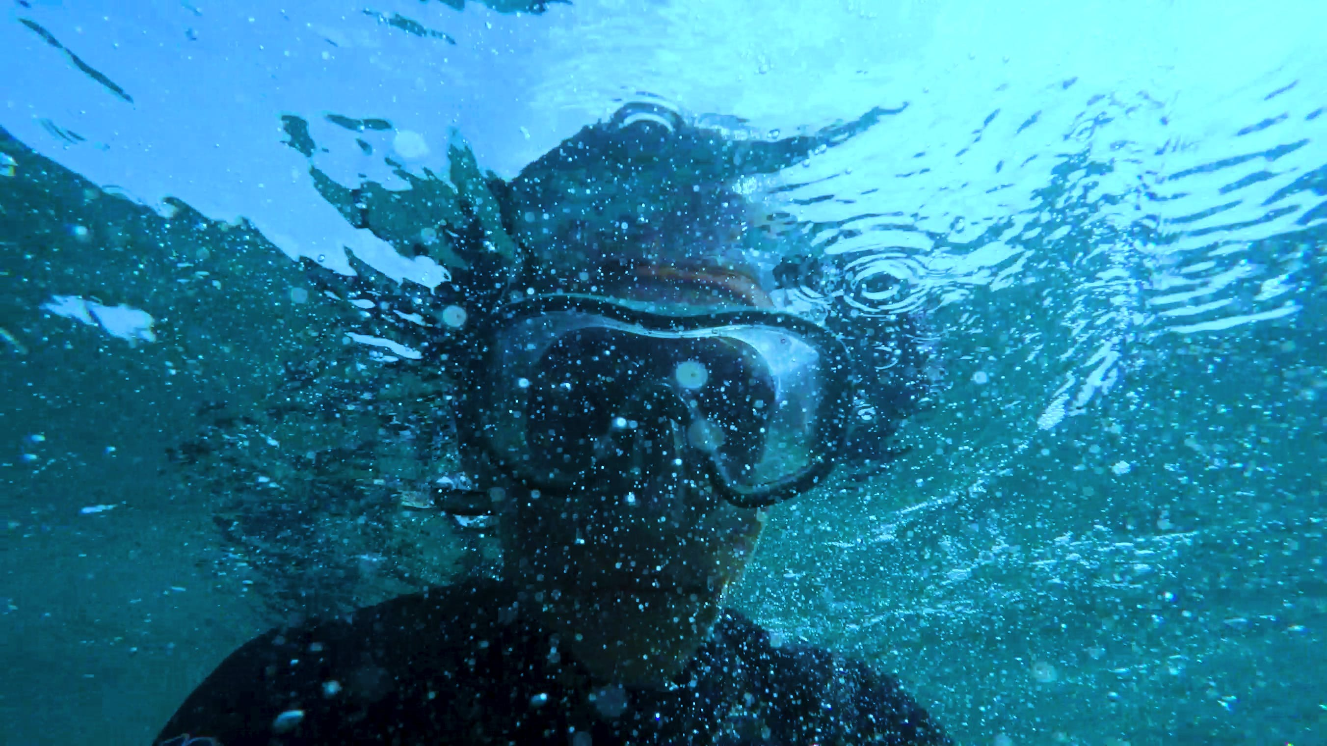 Photo of Person Wearing Swimming Goggles