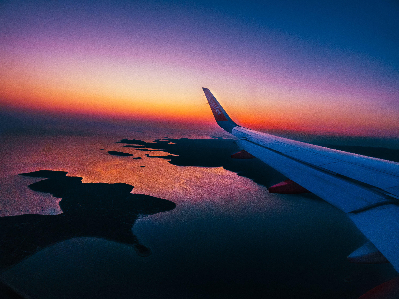 Immagine gratuita di aereo, croazia, tramonto