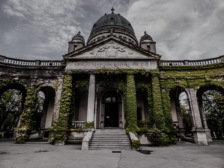 Immagine gratuita di cimetery, desaturato, grigio, zagabria