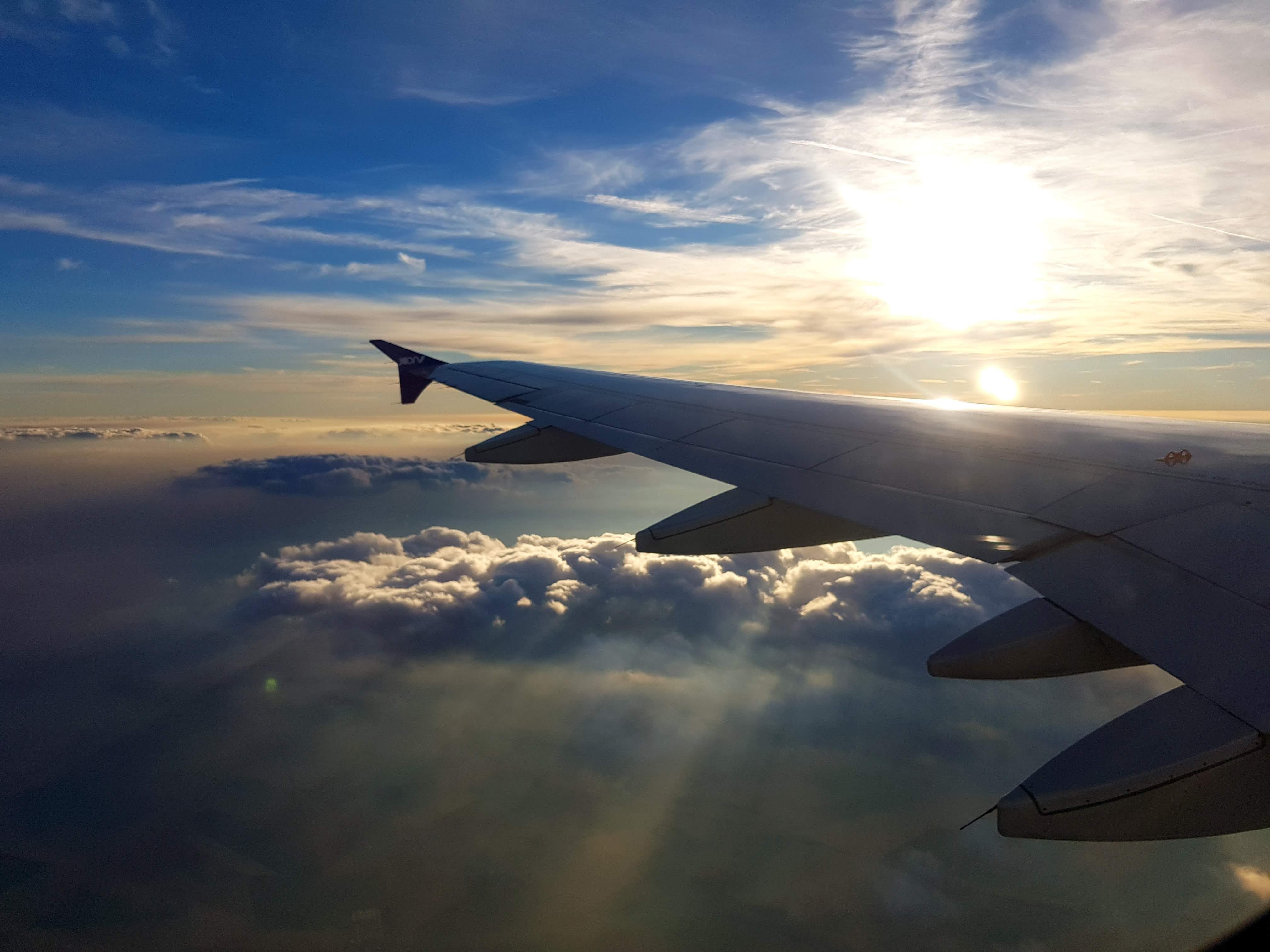 Free stock photo of airplane, cloud, dramatic sky