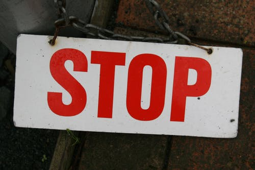 やめる, 一時停止標識, 白地に赤, 符号の無料の写真素材