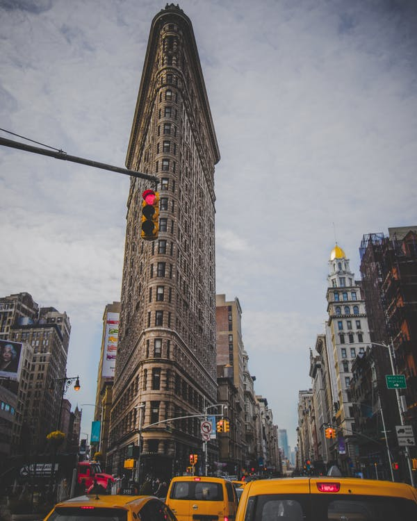 Photo of The Flatiron Building in New York City.