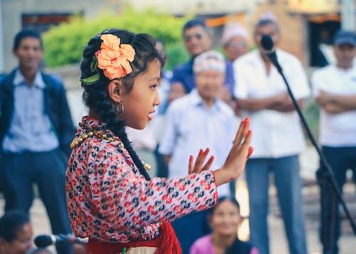 Free stock photo of child, cute, dancing, girl