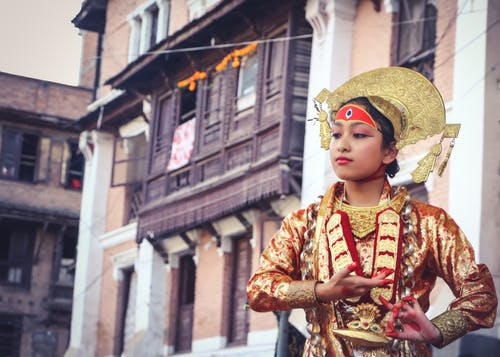 Free stock photo of cosplay, dance of gods, girl, goddess of nepal