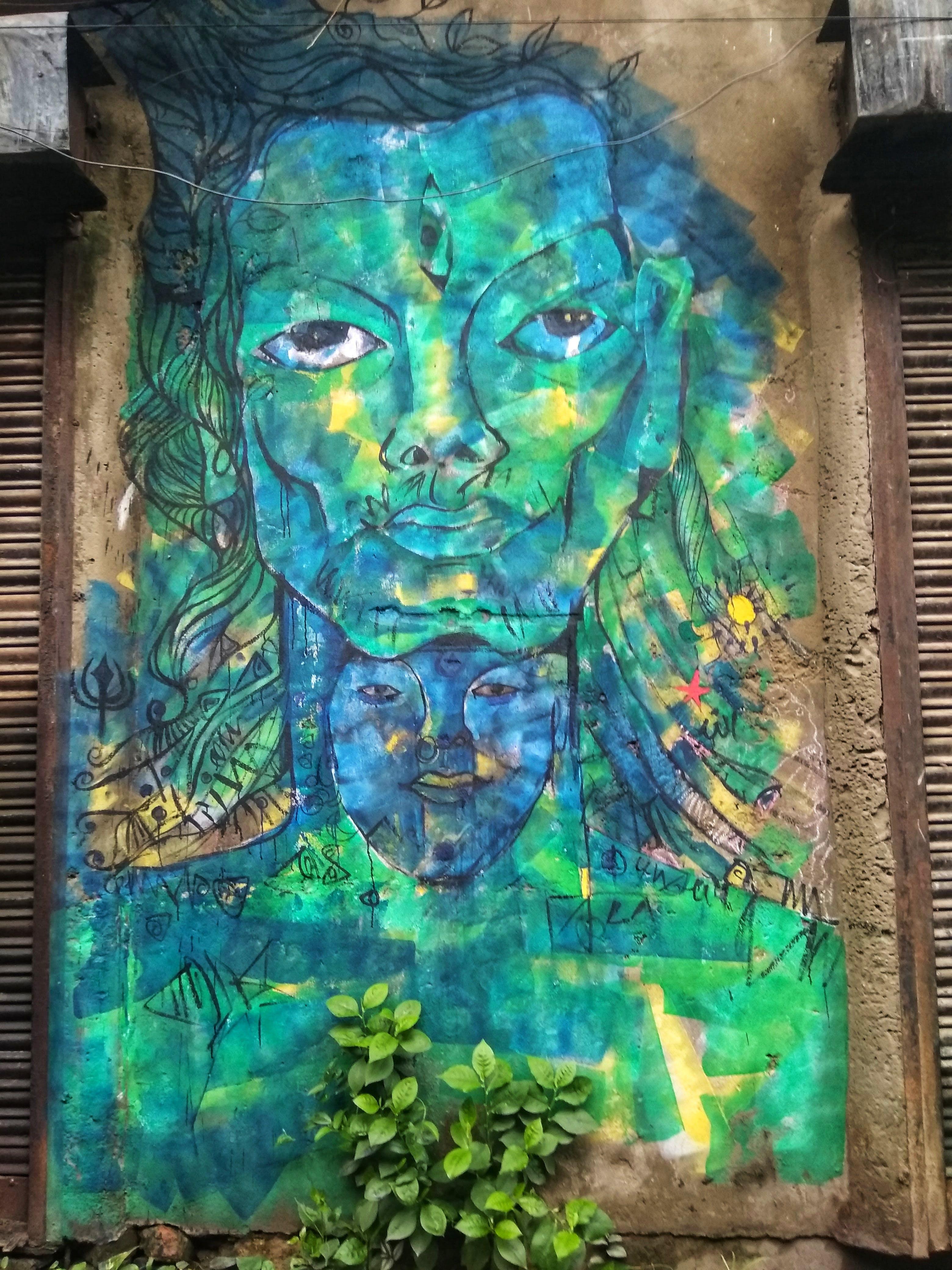 Free stock photo of face paint, india, Kolkata, silence