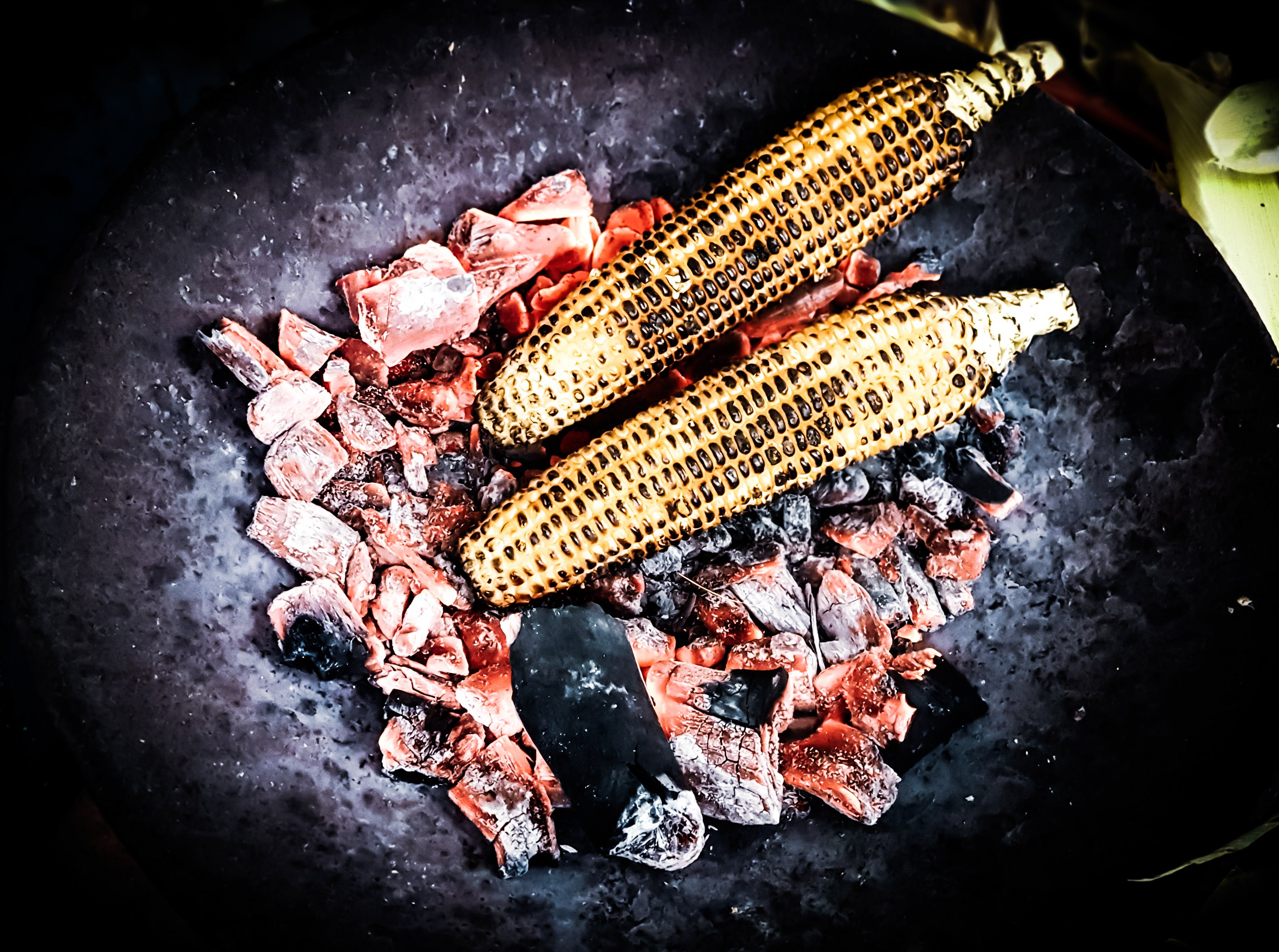 Free stock photo of charcoal, cooking, corn, cuisine