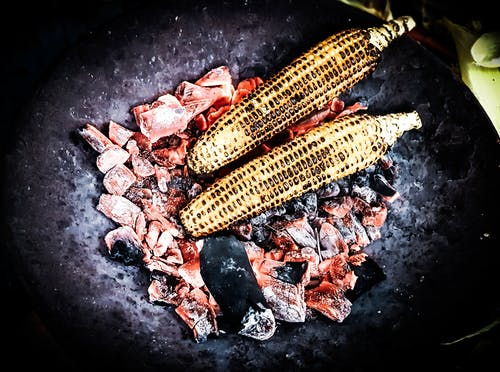 Free stock photo of charcoal, corn, cuisine, dark